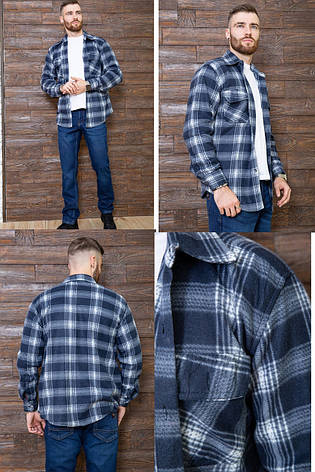 Рубашка мужская байковая теплая, есть большие размеры, плотная высокого качества CANARY, фото 2