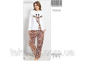 Пижама женская махровая Vienetta M