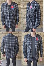 Чоловіча сорочка байкова тепла, є великі розміри, щільна високої якості CANARY, фото 2
