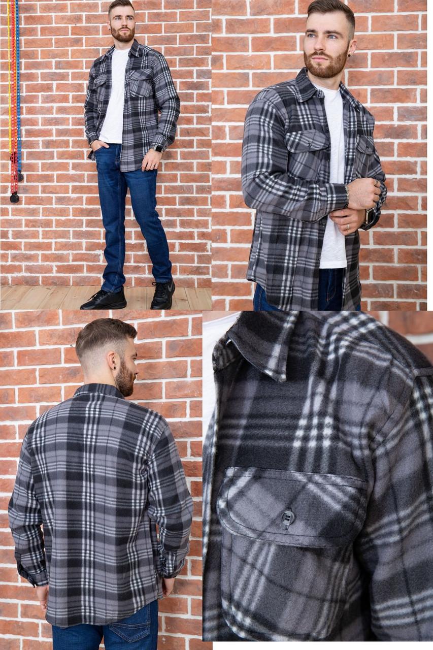 Чоловіча сорочка байкова тепла, є великі розміри, щільна високої якості CANARY