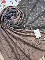 Двухсторонний шерстяной палантин Gucci грязно-розовый с серым 180х65 см (цв.4) - купить на Kosinka.net