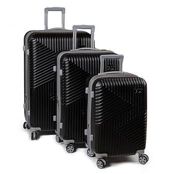 Дорожная Чемодан 31 ABS-пластик 802 black, фото 2