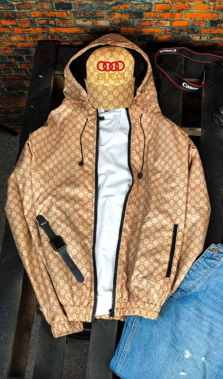 Вітровка чоловіча з капюшоном модна стильна S M L XL XXL