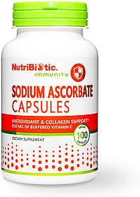 Вітамін С аскорбат натрію, NutriBiotic Immunity Sodium Ascorbate Capsules (100caps)