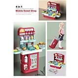 Дитячий ігровий набір валіза-кондитерська 8780 прилавок у валізці + Подарунок, фото 2