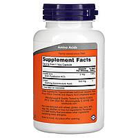 GABA 500 мг Now Foods 100 капсул, фото 2