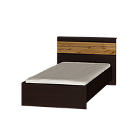 Кровать односпальная Соната-900 (1033х2112х805) ВЕНГЕ+ДУБ КРАФТ ЗОЛОТОЙ