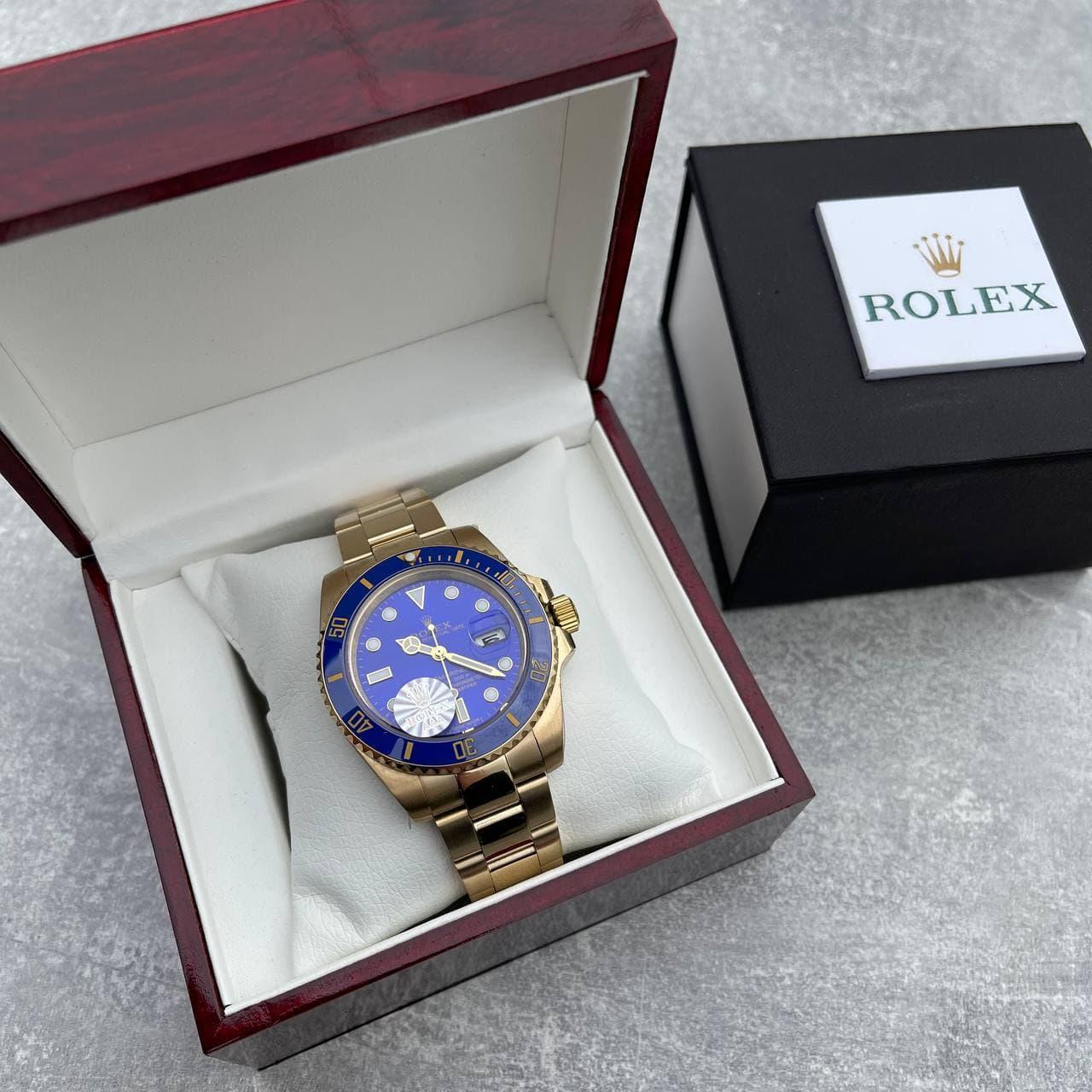 Часы наручные Rolex Submariner Date Gold-Blue премиального AAA класса