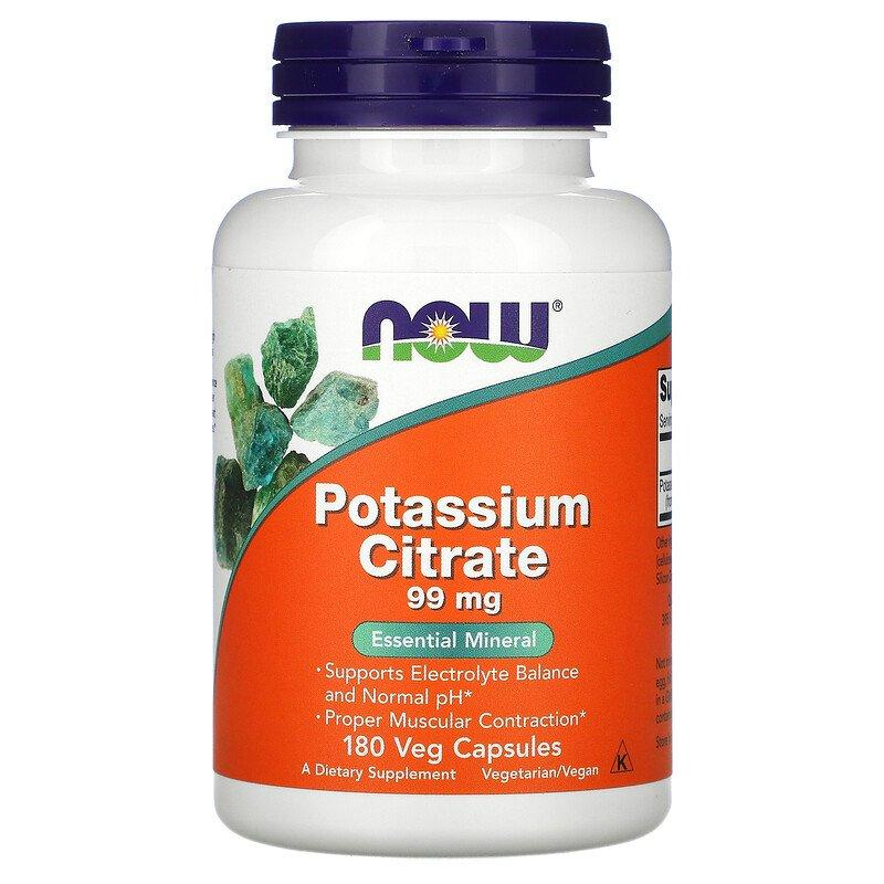 Potassium Citrate 99 мг Now Foods 180 капсул
