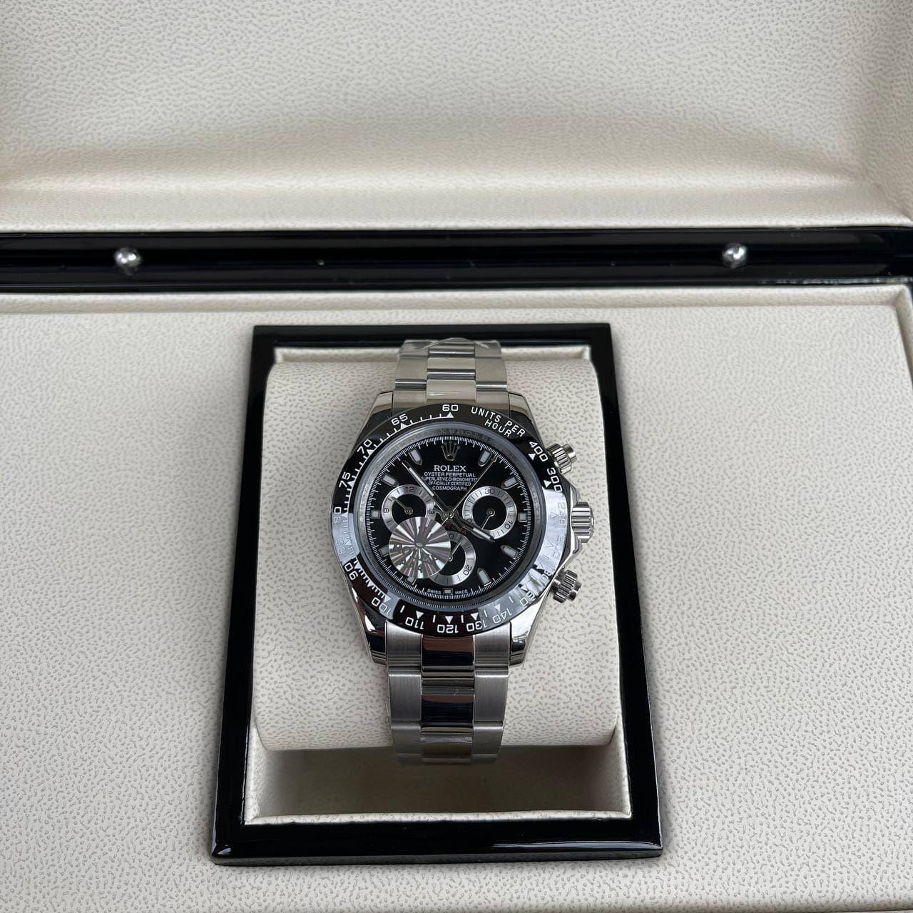 Часы наручные Rolex Cosmograph Daytona AAA Silver-Black-Black