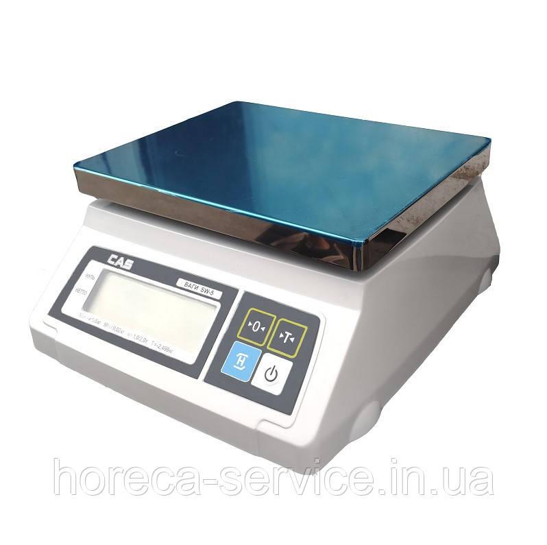Весы фасовочные CAS SW-D с дополнительным дисплеем платформа нержавеющая сталь