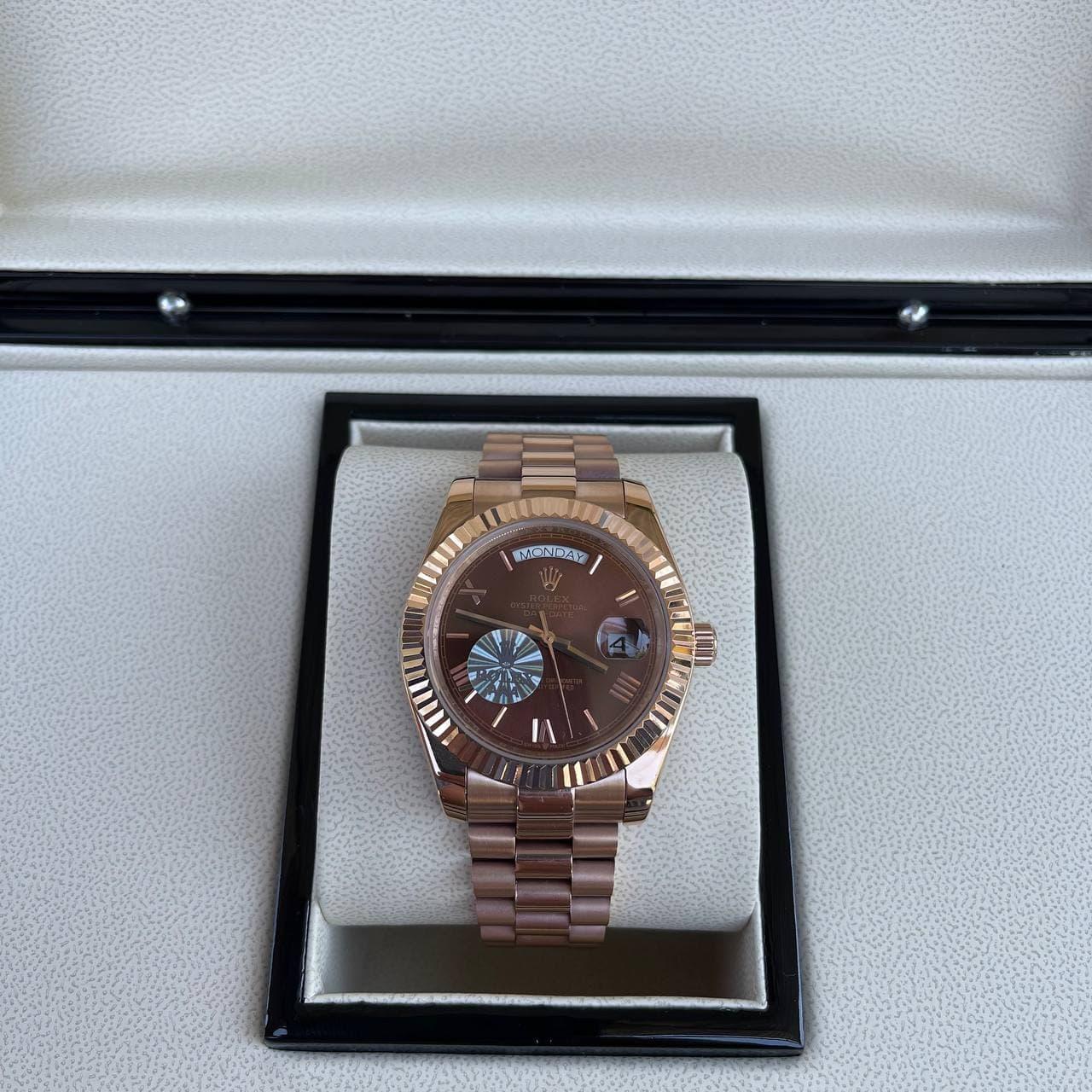 Часы наручные Rolex Day-Date Automatic Cuprum-Brown премиального  ААА класса
