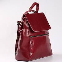 Красный женский рюкзак из натуральной кожи Tiding Bag - 98398, фото 2