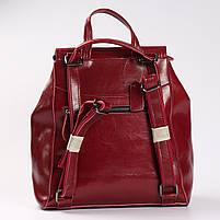Красный женский рюкзак из натуральной кожи Tiding Bag - 98398, фото 4