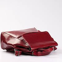 Красный женский рюкзак из натуральной кожи Tiding Bag - 98398, фото 5