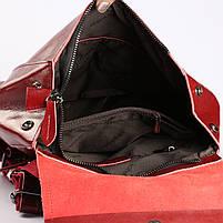 Красный женский рюкзак из натуральной кожи Tiding Bag - 98398, фото 7