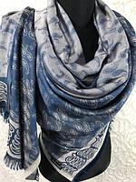 """Осенние двухсторонние палантины турецкие 180х70 см """"Огурец"""""""