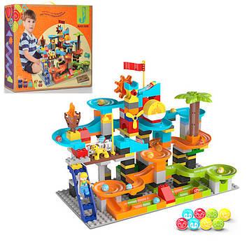 Конструктор для детей от 3-х лет парк развлечений с шариками и многоэтажным лабиринтом Игровой конструктор