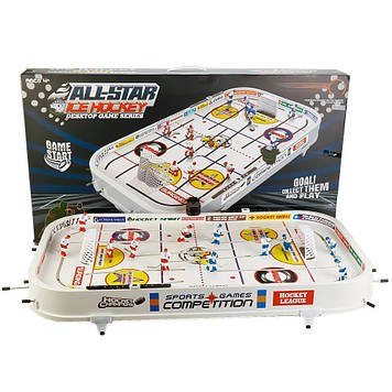 Настільний хокей на штангах, 12 гравців, 2 шайби, вбрасыватель шайби, лічильник B2125