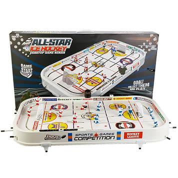 Настольный хоккей на штангах с вбрасывателем шайбы и счетчиком Настольный хоккей для детей и для родителей