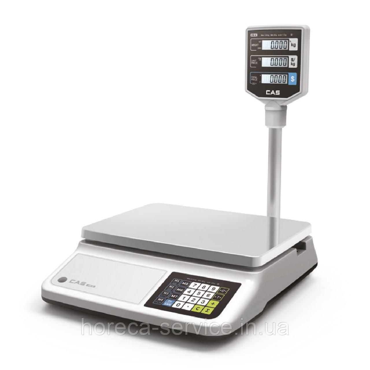 Весы торговые настольные CAS PR-15 II Р со стойкой