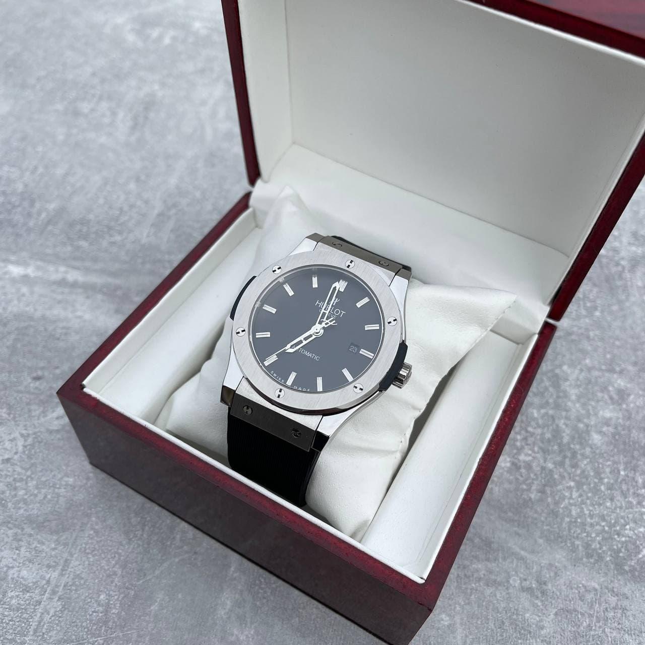 Годинники наручні H u b l o t 5826 Classic Fusion Black-Silver-Black, преміального класу ААА