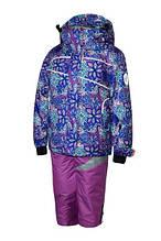 Зимний комплект на девочку Be easy Лиловый с принтом (20RD5-16-V32) Размеры 116, 122