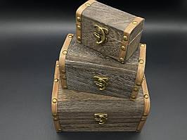 Скринька для декупажу. Три шт/комплект. 18х13х10см
