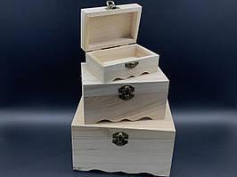 Скринька для декупажу. Три шт/комплект. 18х12,5х10см