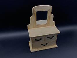 Комод-органайзер для розпису. Дзеркало. 22,5х15,5х7,5см