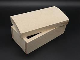 Шкатулка-заготовка из дерева. Куфр. 21х11х9см. Без фурнитуры. Материал бук.