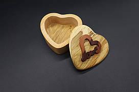 Шкатулка-заготовка из дерева. Сердце. 9см