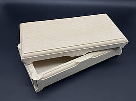 Шкатулка-заготовка из дерева. Куфр. 25х12,5х6см. С фаской. Материал бук.