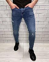 Джинсы мужские New Boy Зауженные Стильные Молодежные джинсы для мужчин Демисезонные Мужская одежда
