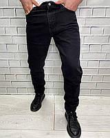 Джинсы Bon Vivat Черный Мужские джинсы с идеальной посадкой однотонные Мужская одежда 38