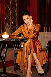 Сукня міді бронзового кольору