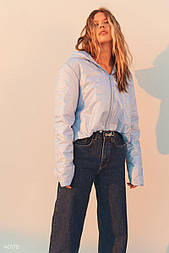 Коротка куртка блакитна