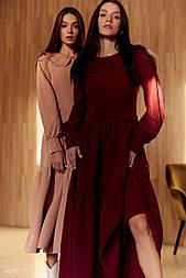 Червоне плаття міді з оборками