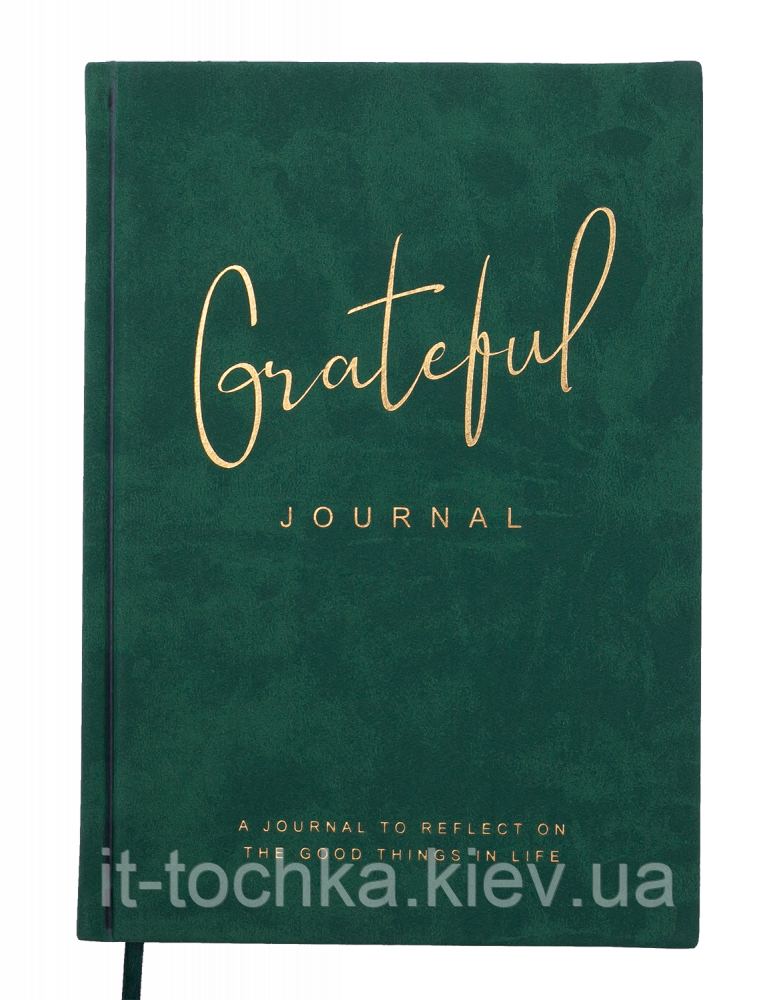 Блокнот деловой А5 96 листов в точку grateful обложка зеленая эко-кожа buromax bm.295319-16