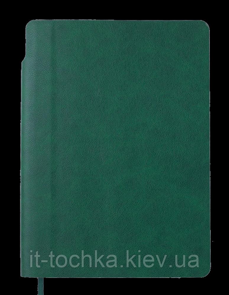 Блокнот деловой fresh А5 96 л. точка зеленый эко-кожа buromax bm.295311-04
