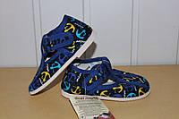 Тапочки на мальчика Чернигов 11-14 р синий якорь