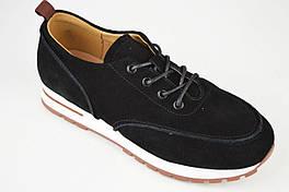 Замшеві кросівки Lonza 8809 37 Чорні