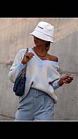 В'язаний светр в клiтинку Туреччина, фото 1