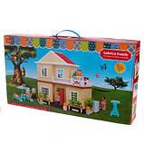 Кукольный домик Happy family 1514 Двухэтажный домик для игрушек + Подарок, фото 3