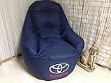 Крісло мішок, безкаркасне крісло, м'який пуф, крісло BOSS ХХЛ, Виробництво, фото 5