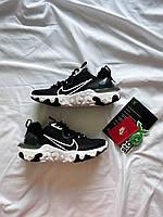 """Кроссовки Найк Nike React Vision """"Black/White"""" черные унисекс"""