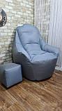 Крісло мішок, безкаркасне крісло, м'який пуф, крісло BOSS ХХЛ, Виробництво, фото 9