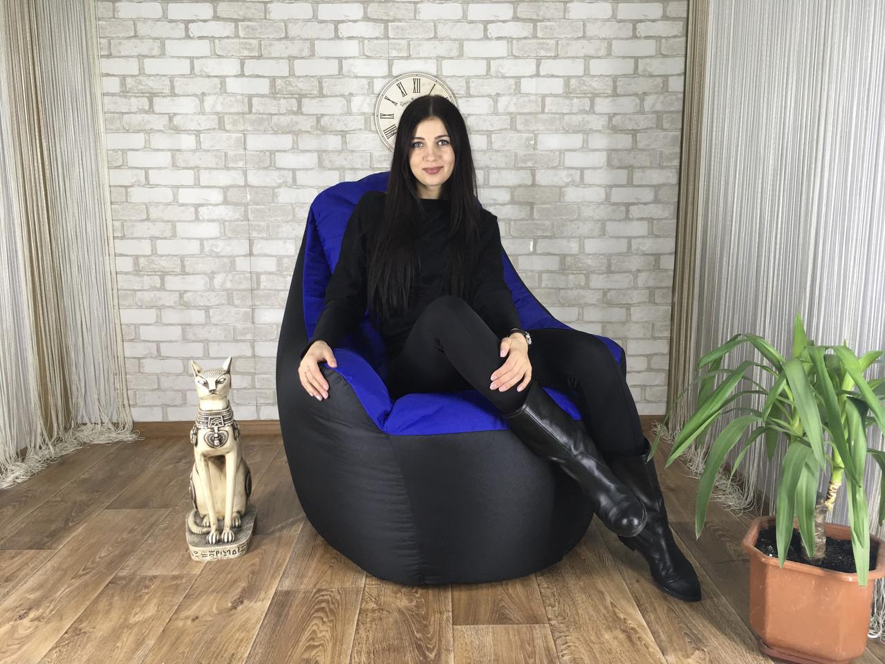 Крісло мішок, безкаркасне крісло, м'який пуф, крісло BOSS ХХЛ, Виробництво