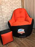 Крісло мішок, безкаркасне крісло, м'який пуф, крісло BOSS ХХЛ, Виробництво, фото 10