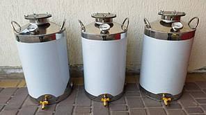 Перегінний куб 40л дистилятор, бідон, бак Харчова нержавіюча сталь AISI 304